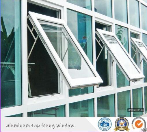 Modern Design Aluminum Cladding Wooden Top Hung Awning Folding Window