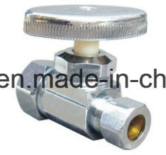 90 Degree Chorme Plating Brass Angle Valve with Nut pictures & photos
