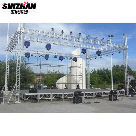 Adjustable Height Modular 6X8 Stage for Outdoor Event