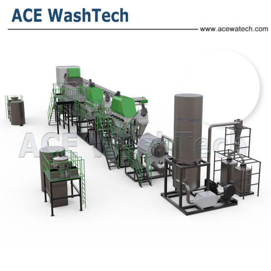 PE Squeezer Ground Film Recycling Washing Line/PE Mulching Film Washing Machine