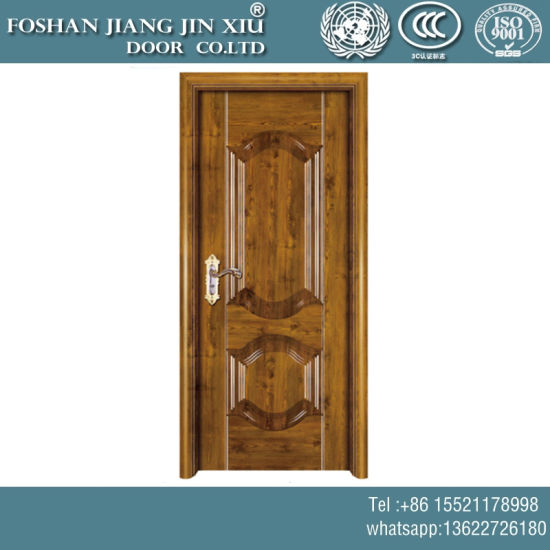 China Red Cypress Wood Painting Stainless Steel Security