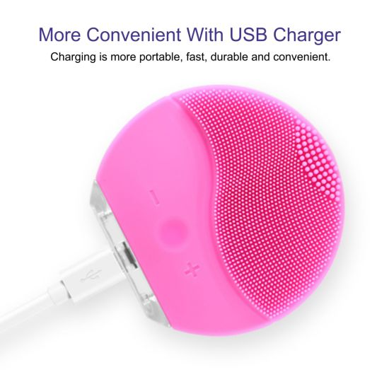 Facial Cleansing Brush Electric Silicone Massage Beauty Machine