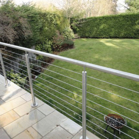 Stainless Steel Design Materials Indoor/Outdoor Stair Cable Railing