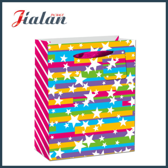 BSCI Colorful Printed Gift Packing Shopping Paper Bags