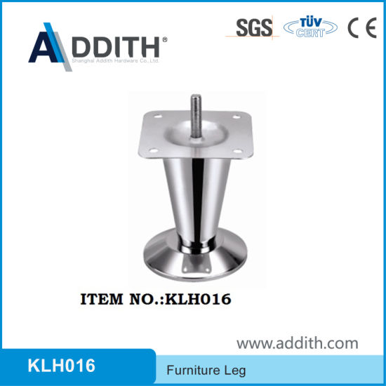 High Quality Adjustable Furniture Stainless Steel Sofa Leg H105mm