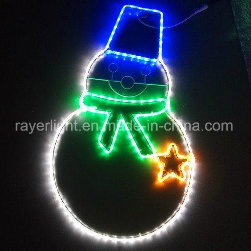 LED Snowman Rope Lights Christmas Light Figure Decoration