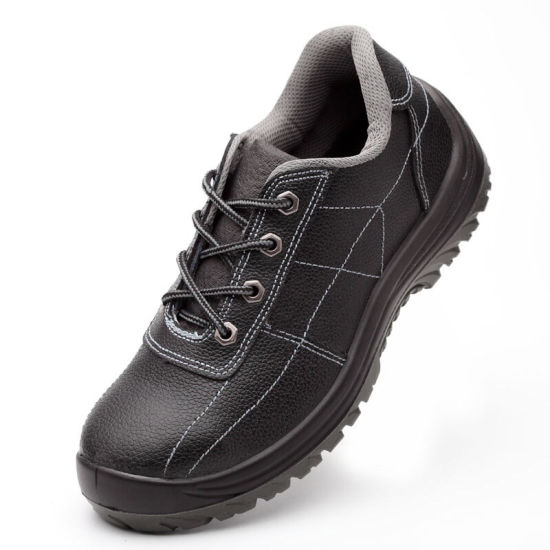 Good Quality Genuine Embossed Leather Work Shoes pictures & photos
