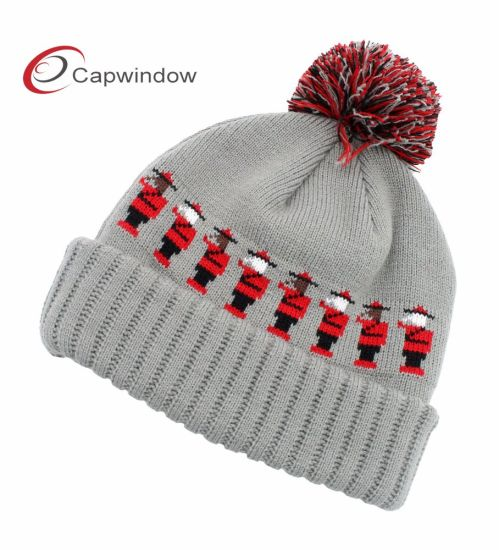 582d183924d27 China New Fashion Warm Striped Winter Beanie Knitted Hat - China ...
