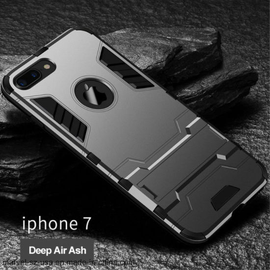 TPU Hard PC Iron Man Armor Holder Cover Phone Case for iPhone