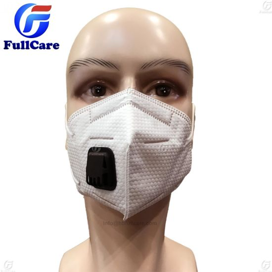 Non-woven N95 Anti-haze Color Valved Ffp2 Ffp1 Folding White Mask Dust Anti-pollution Mouth