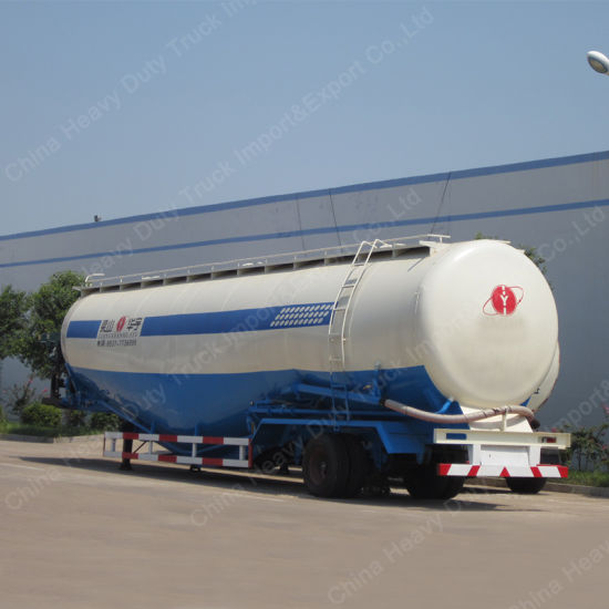 China Dry Cement Bulk Tanker Semi Trailer with Air