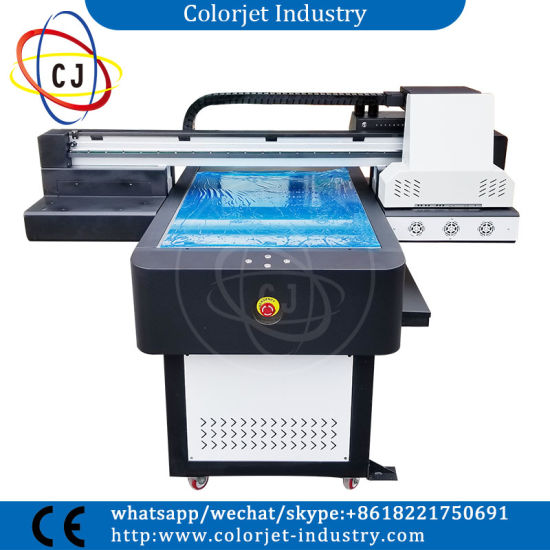 Popular Ce Approved A1 600*900mm Size for Any Hard Material Printing, UV Flatbed Digital Printer