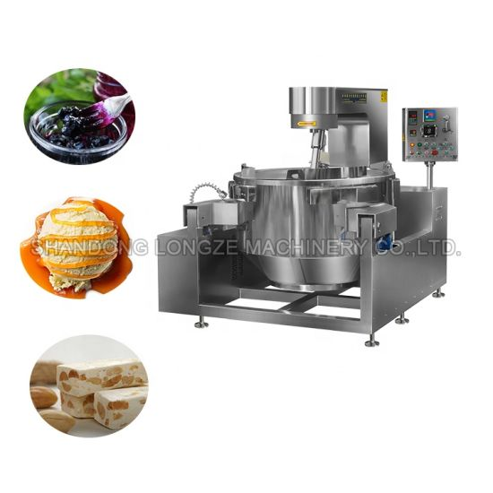 Ce Approved Gas Electric Automatic Food Industrial Cooking Mixer Machine for Nougat Peanut Jacketed Kettle with Mixer Cheap Price