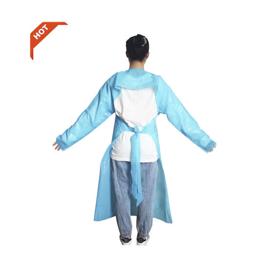 Hot Manufacturer for Impervious Isolation Gown Patient and Surgical Gowns Isolation PP PE Multi-Ply Class I