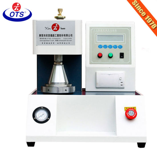 Factory Price Paper Carton Fabric Automatic Mullen Bursting Strength Tester