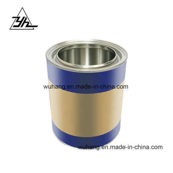 0.8L Liter Customized Round Tin Cans for Paint Coating Chemical pictures & photos