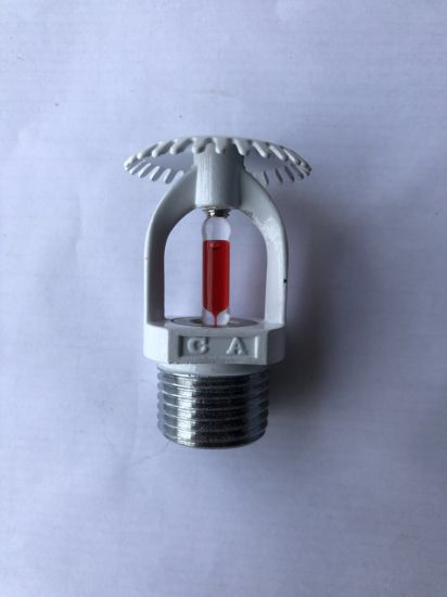 [Hot Item] White Painted Fire Sprinkler Zinc Material with Escutcheon  Decoration Plate