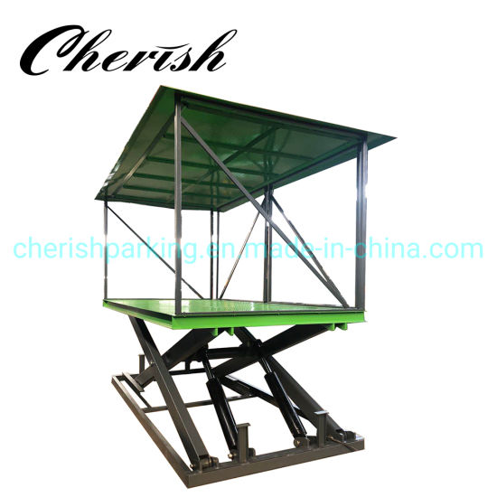 Customized Trash Box Lifting Equipment Scissor Cargo Lift Table Scissor Lift pictures & photos