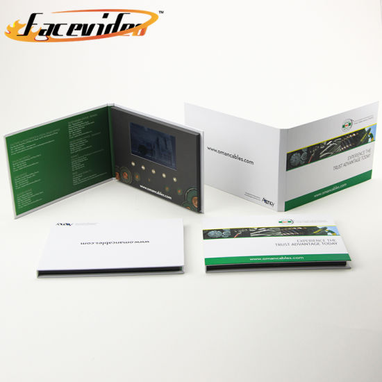 China facevideo electronic video greeting business card mailer facevideo electronic video greeting business card mailerfolder brochure printing for invitation reheart Image collections
