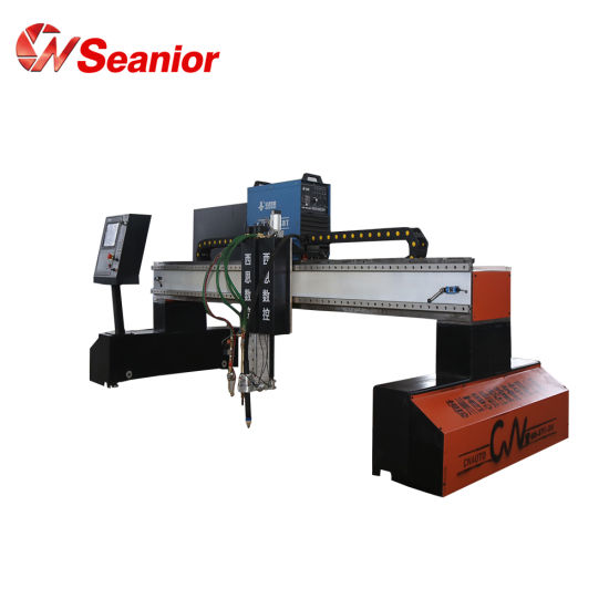 Horizontal CNC Gantry Type Plasma and Flame Iron Metal Cutting Machine