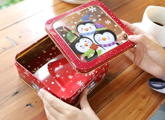 Handmade Cookies Biscuit Tin Round Storage Box Metal pictures & photos