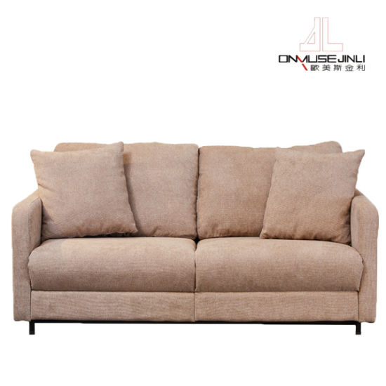 New Modern Fabric Folding Sofa Bed With, Brown Material Sofa Bed