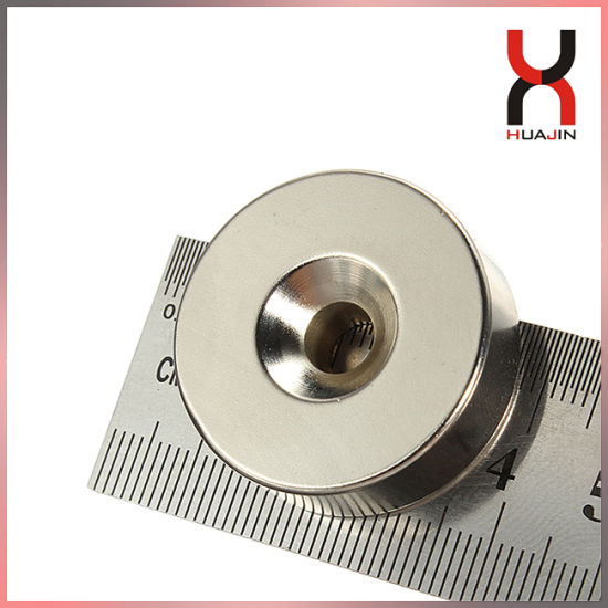 Permanent Strong NdFeB Magnet /Block Shape Magnet with Countersunk Hole