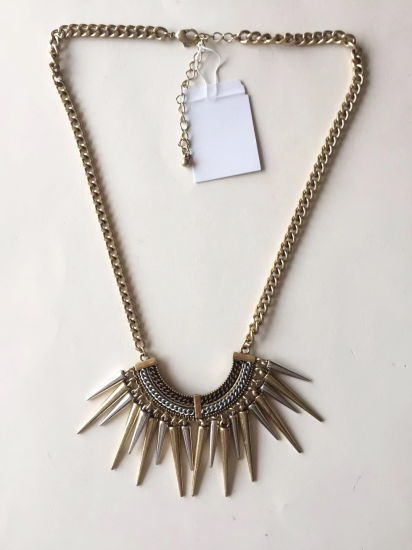 Fashion Necklace Chain Gold with Metal Parts Pendant 20~23+6cm