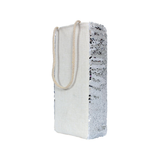 Silver Wholesales New Sequin Cooler Wine Gift Bag