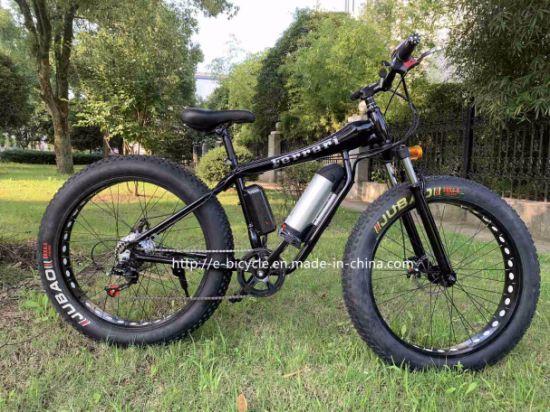 500W 48V 26 Inch High Speed Aluminum Fat Tire Electric Mountain Bike Cheap Man Beach Cruiser Bicycle
