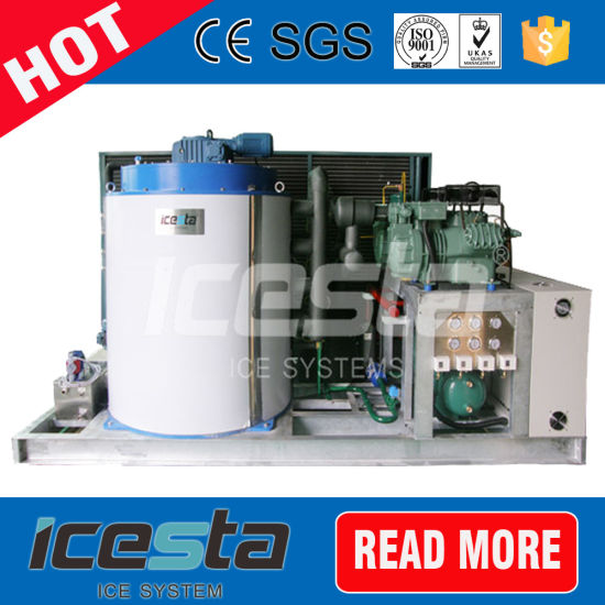 Icesta Strong Durability 10 Ton Flake Ice Machine for Industry
