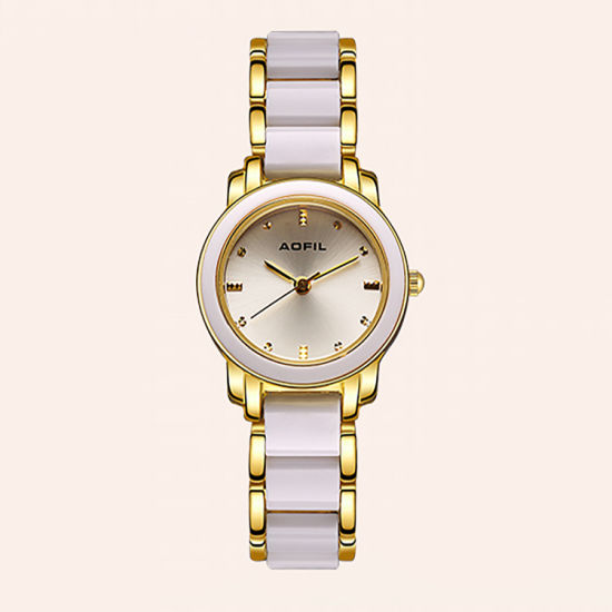 Fashion Ceramics Alloy Ladies Watch Oem Customized Logo Woman Wrist Watches Jy Al093 China Gift Watches And Quartz Watches Price Made In China Com