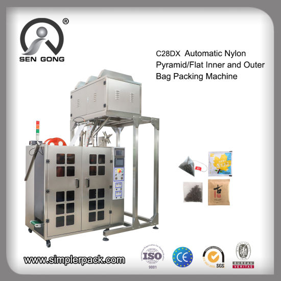 Wholesale Nylon Pyramid/Flat Pouch Tea Bag Filling Packing Machine