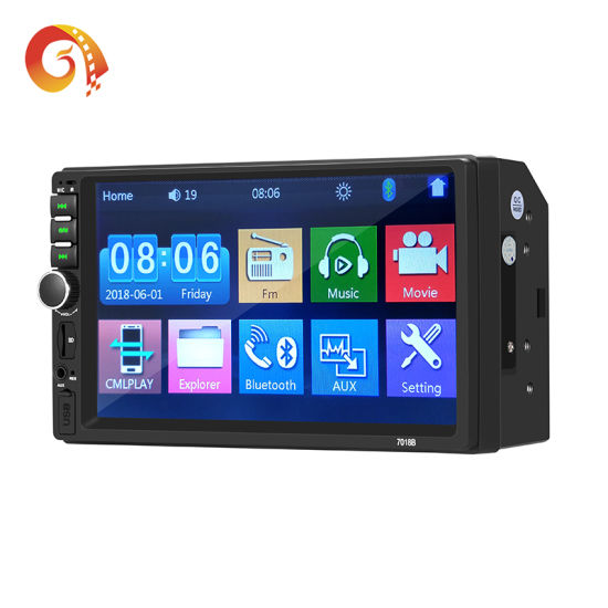 Factory Supply Touch Screen Double 2 DIN MP5 Video Player Universal 7 Inch Auto GPS Navigation Multimedia Stereo Audio Radio System Car DVD