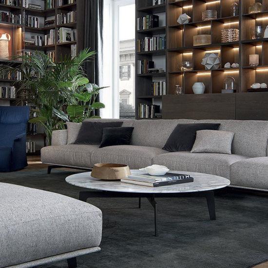 Home Furniture Modern Wooden Plywood MDF Center Ellipse Tea Table