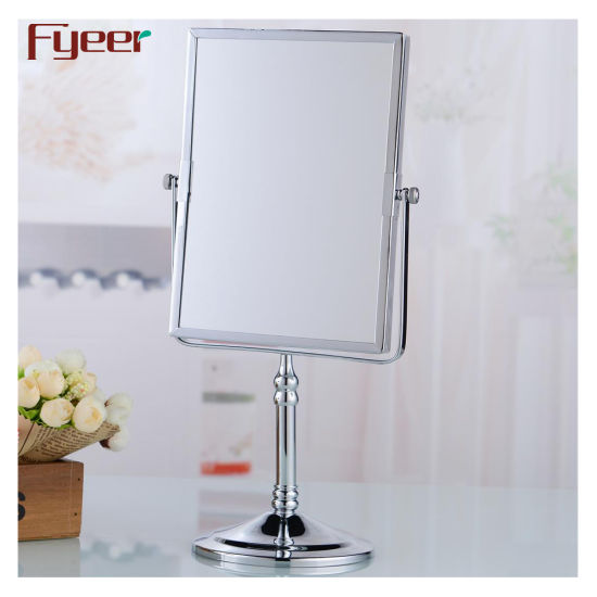 Bathroom Magnifying Desktop Cosmetic Mirror with Square Shape pictures & photos