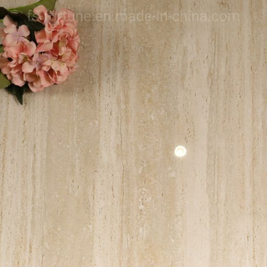600X600 Roman Cream-Colored Line Series Super Wear Resistant Polished Glazed Tile pictures & photos