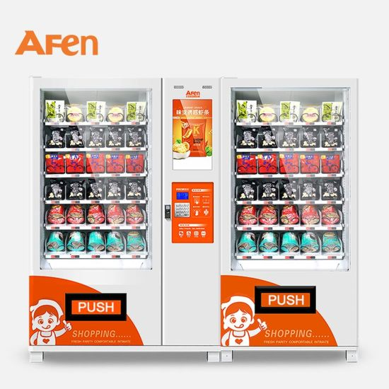 Afen Double Cabinet 22'' LCD Advertising Screen Vending Machine