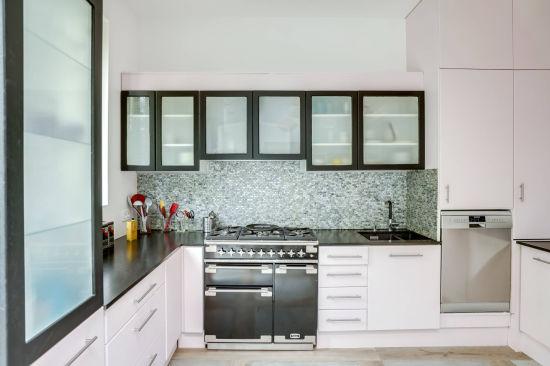 China Wholesale Black Color Melamine Glass Board Door Kitchen Cabinet Manufacturer China Kitchen Cupboard Wholesale Kitchen Cabinets