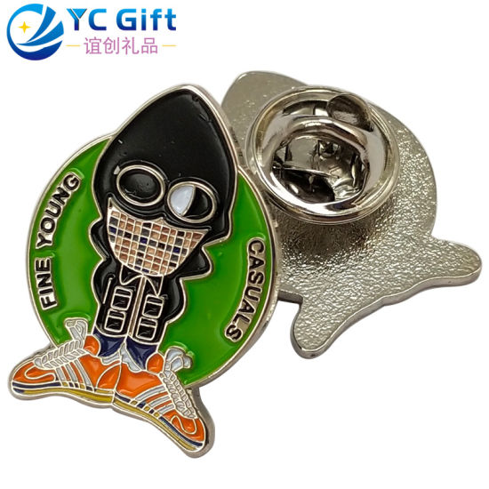 Custom Personalized Metal Crafts Soft Enamel Emblem Colorful Cartoon Garment Decoration Button Badges Company Activity Promotion Products Lapel Pin for Gift