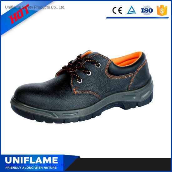 PU Sole En Genuine Leather Industrial Industry Steel Toe Safety Work Shoes for Men Europe En20345 China Men Work Safety Shoes Ufa006