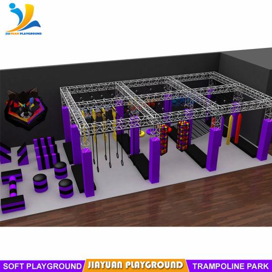 Indoor Trampoline Park Kid Ninja Warrior Obstacle Course