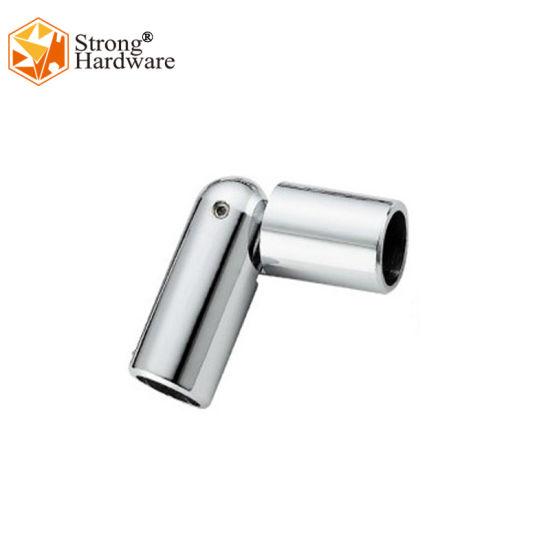 Popular Designs SS304 Mirror/Satin Shower Glass Door Tube Connector