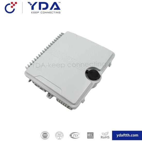 FTTH IP65 Fiber Optic Plastic Box 12 Core Distribution Terminal Box