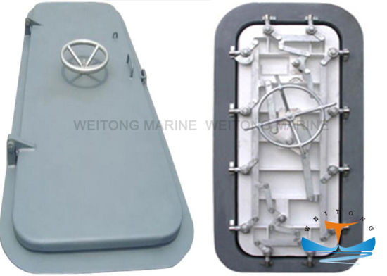 A60 Fire Proof Marine Boat Steel Quick Open and Close Weathertight Door for Ships