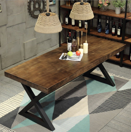 Wholesale Antique Interior Decorative Furniture Hospitality Furniture Upholstered Dining Table