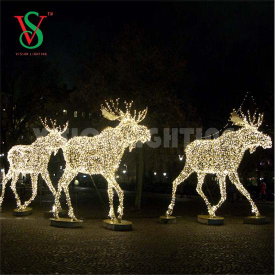 Led Reindeer Motif Lights For Outdoor