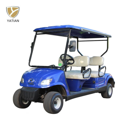 Red Color 4 Seater Golf Cart Electric Car, Electric Street Legal Vehicles