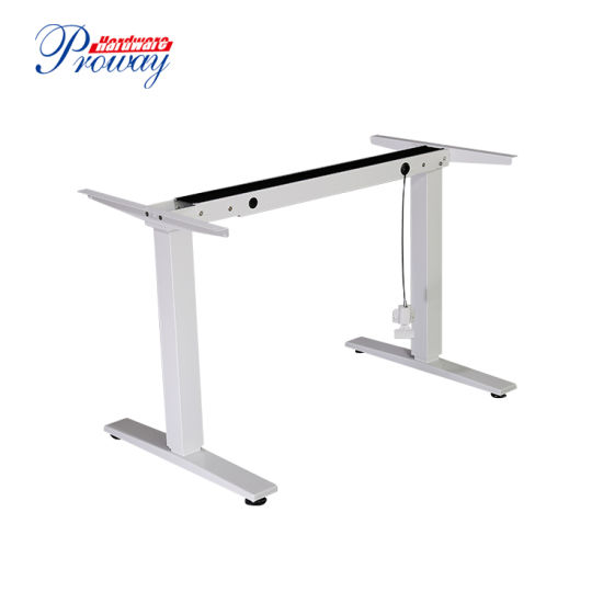 Gas Spring Height Adjustable Standing Office Desk with Folding Legs