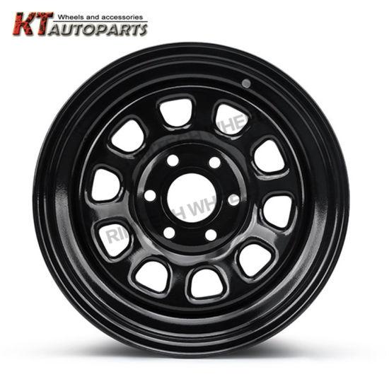 4X4 Offroad Steel Wheel Rims Shinny Black 6 Hole